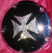 Maltese Cross Swarovski Crystal Derby Cover