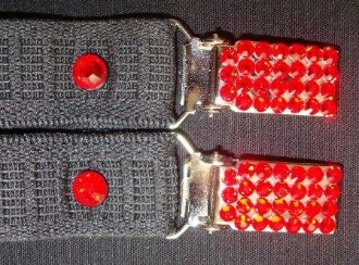 Boot Straps with Swarovski Crystals